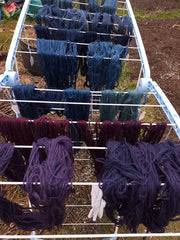 dyeing process, yarns, wool, natural dyes, colourworks