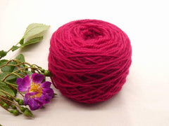 yarn, pink, cochineal, wool, colourworks, process