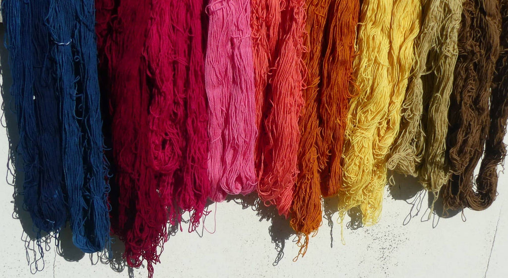 our story, colourworks, yarns, natural dyeing