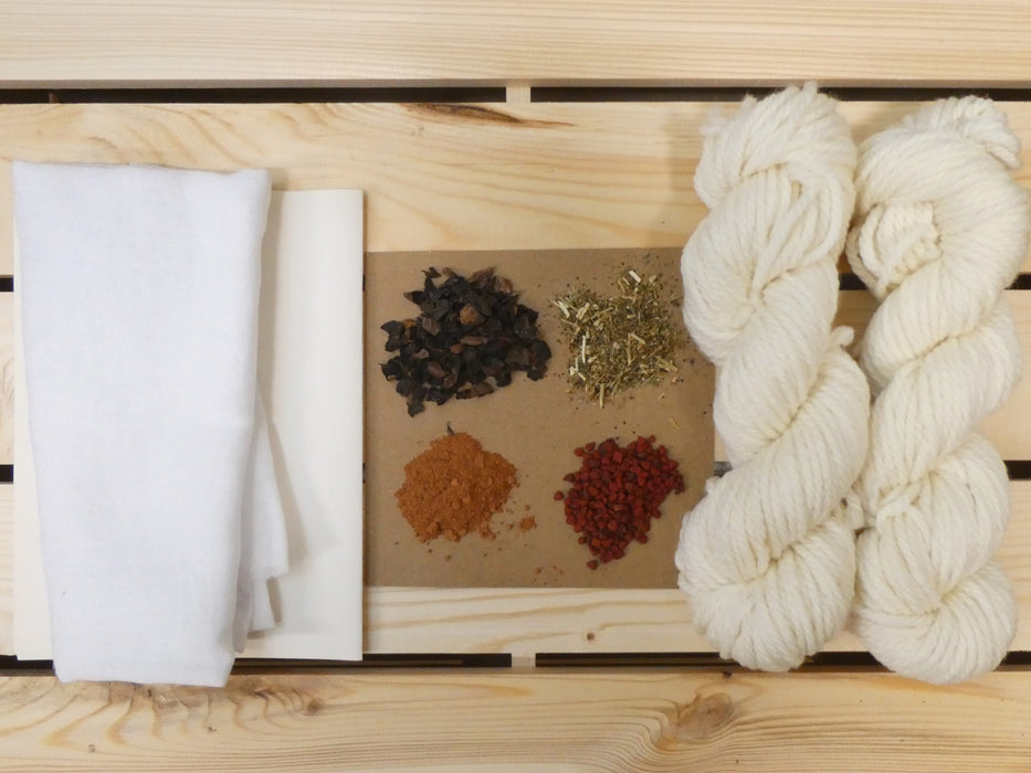 Natural Dyeing Kits, Yarns
