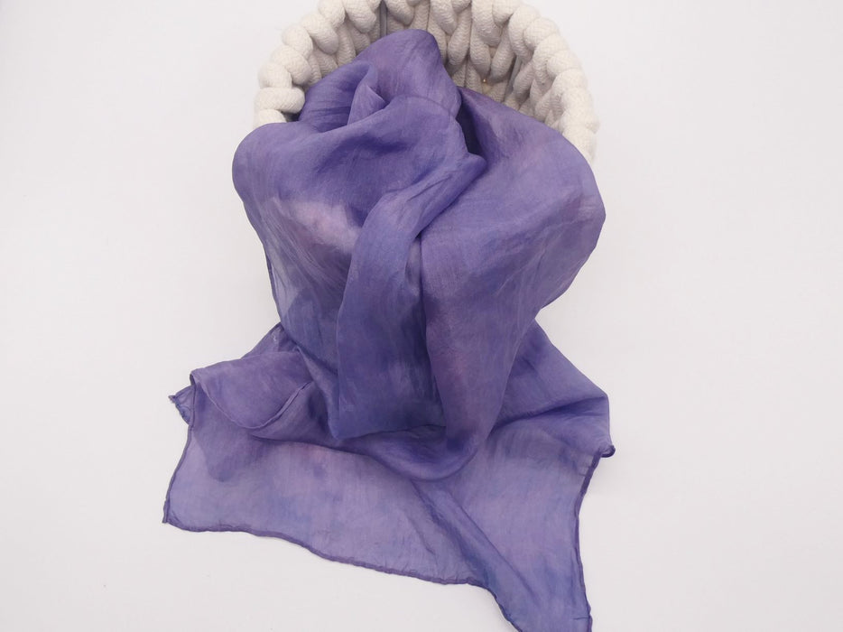 Violet Silk Scarf, Small