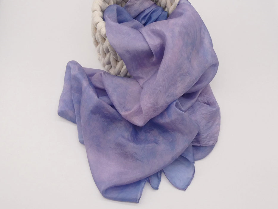 Purple and Pink Silk Scarf, Large