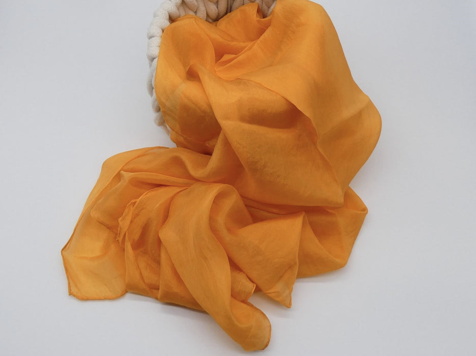 Golden Orange Silk Scarf, Large