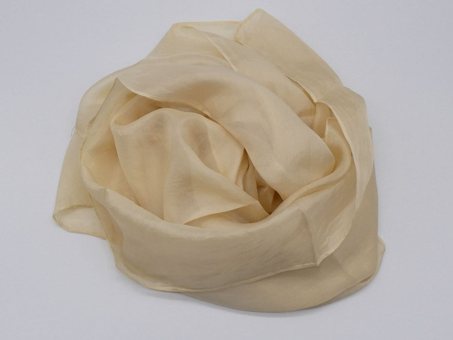 Pale Tan Silk Scarf, Large