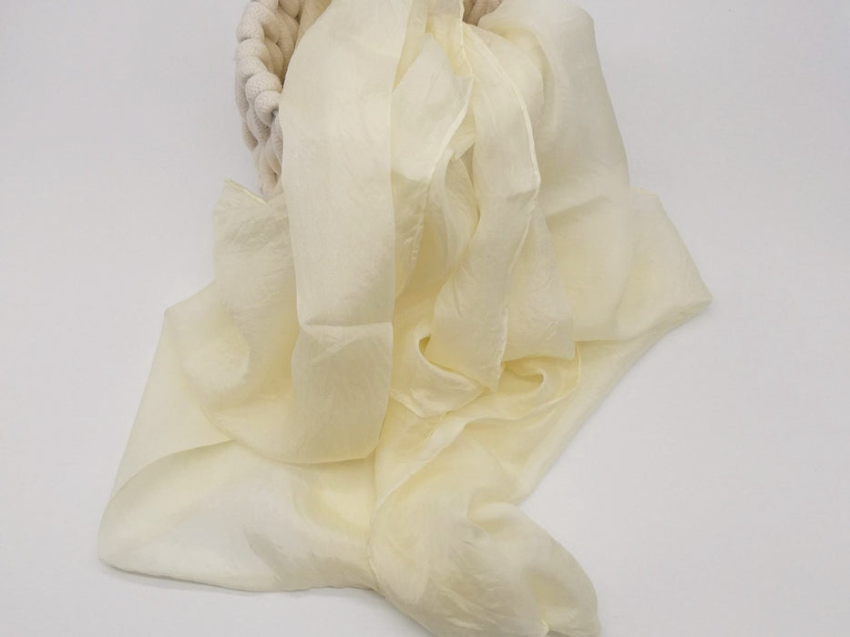 Cream Silk Scarf, Large