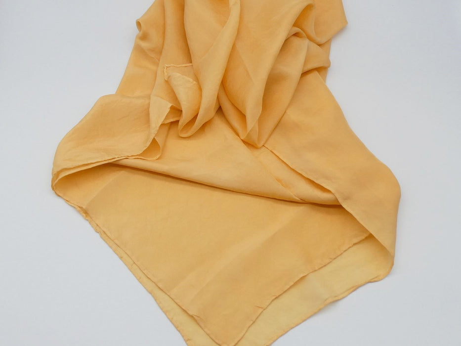 Gold Habotai Silk Scarf, Square