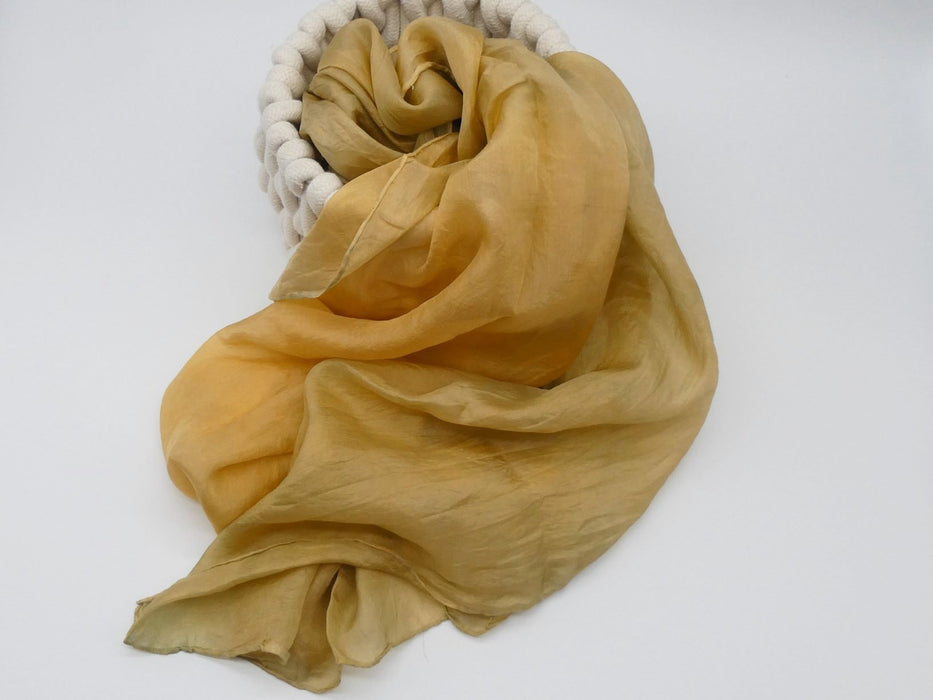 Old Gold Silk Scarf, Large