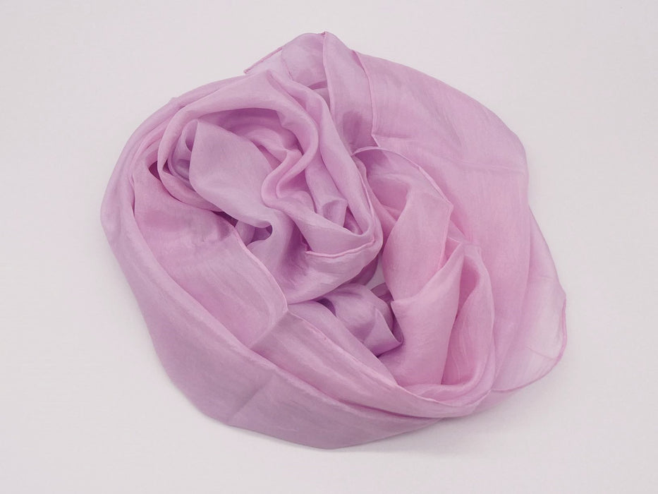 Soft Pink Silk Scarf, Large