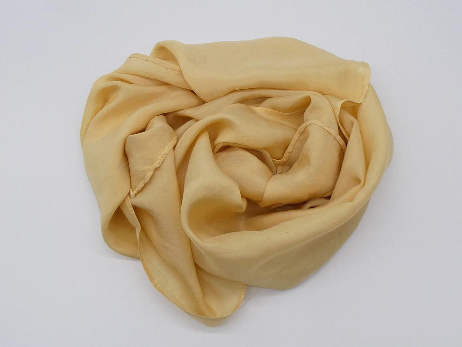 Mustard Yellow Habotai Silk Scarf, Small