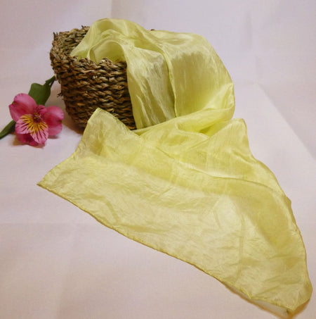 Silk scarf, yellow, hand dyed, Natural dye, colourworks
