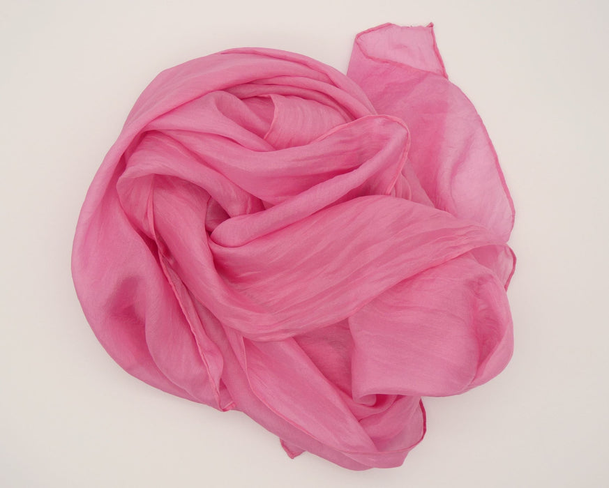 Pink Silk shawl, hand dyed, Natural Dyes