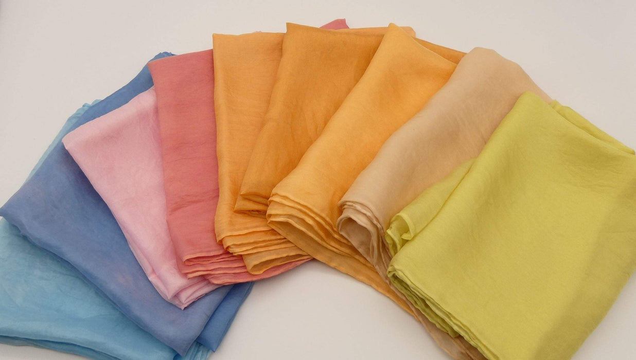 Silk Scarves, Dyed with Natural Dyes, eco friendly, uk