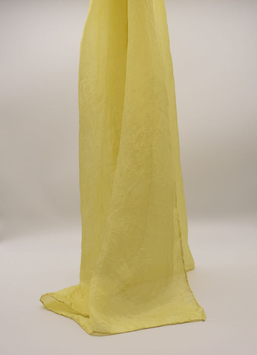 Silk shawl, yellow, hand dyed, scarf, Natural