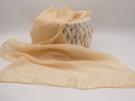 Pinky beige Silk scarf, hand dyed, Natural Dyes