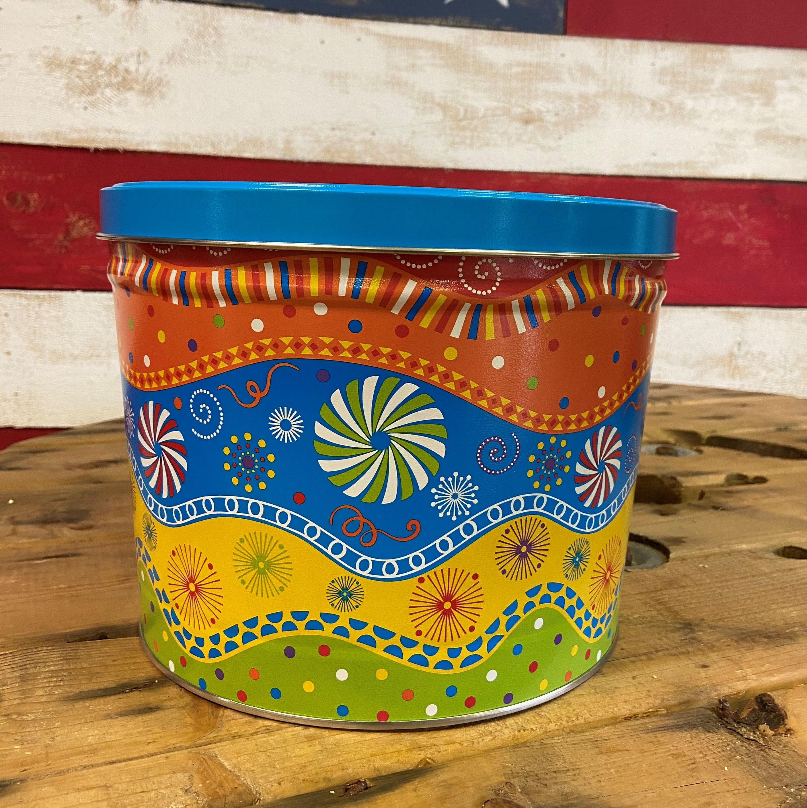 Two Gallon Popcorn Tin