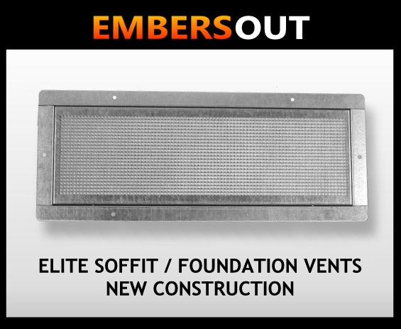 Embers Out Elite Soffit Foundation Vents - New Construction