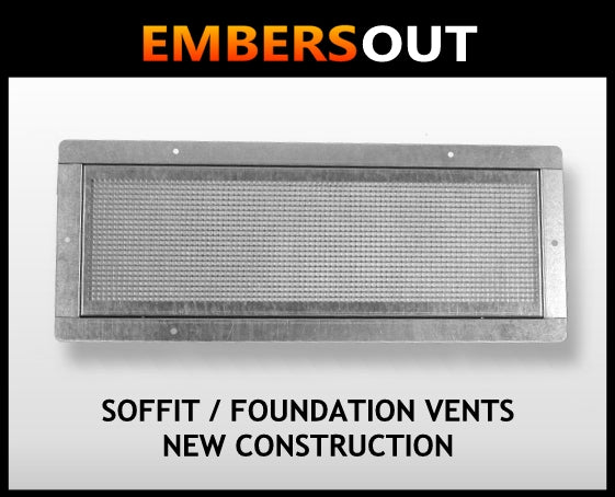 Embers Out Soffit Foundation Vents - New Construction