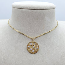 Load image into Gallery viewer, Diamond Spark Hammered Necklace