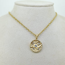 Load image into Gallery viewer, 18K Necklace Hammered Pendant