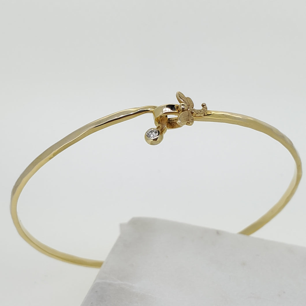 14k Yellow Gold  Dragonfly