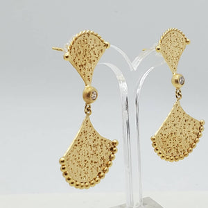 Fanned Hammered Earrings