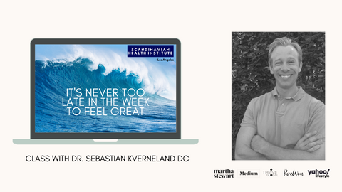 It is never too late in the week to feel great Dr. Sebastian Kverneland Chiropractor in Los Angeles