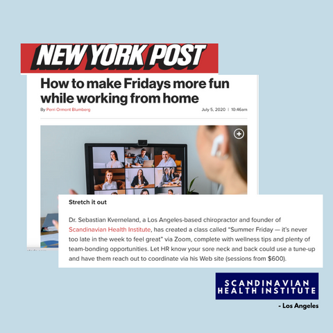 ny post article about dr sebastian Kverneland and working from home summer friday