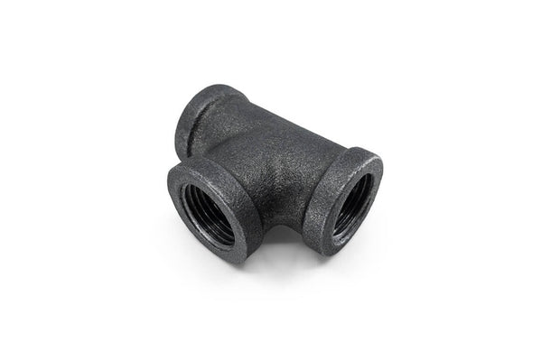 Black Malleable Iron Fittings (3) ' Female Tee / Female Union / Square Plug