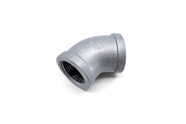 Galvanized Malleable Iron Fittings (2) ' Short Nipple / Reducing Bush / 45 Degree Female Elbow / 90 Degree Female Elbow