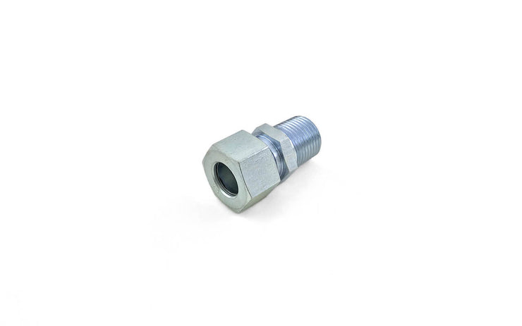 Steel DIN 2353 Tube Fittings (3) ' Male Connector (NPT) / Male Connector (BSPP)