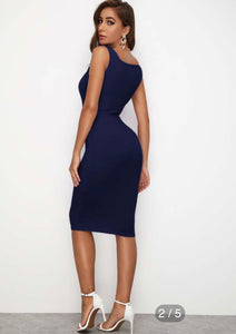 FN Sexy Tank Bodycon, Pencil Jeans Dress (NEW!) SM