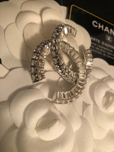 Load image into Gallery viewer, CHANEL CC Channel Set Crystal Baguettes BROOCH (New!)