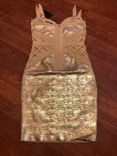 Load image into Gallery viewer, FN GOLD BANDAGE Corset Dress (NWT!)