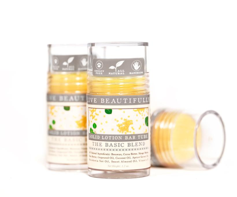 Live Beautifully - The Basic Blend - Lotion Bar Tube
