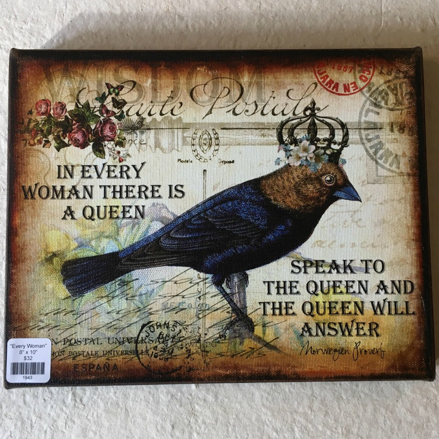 """In Every Woman...A Queen"" Canvas Art 8"" x 10"""