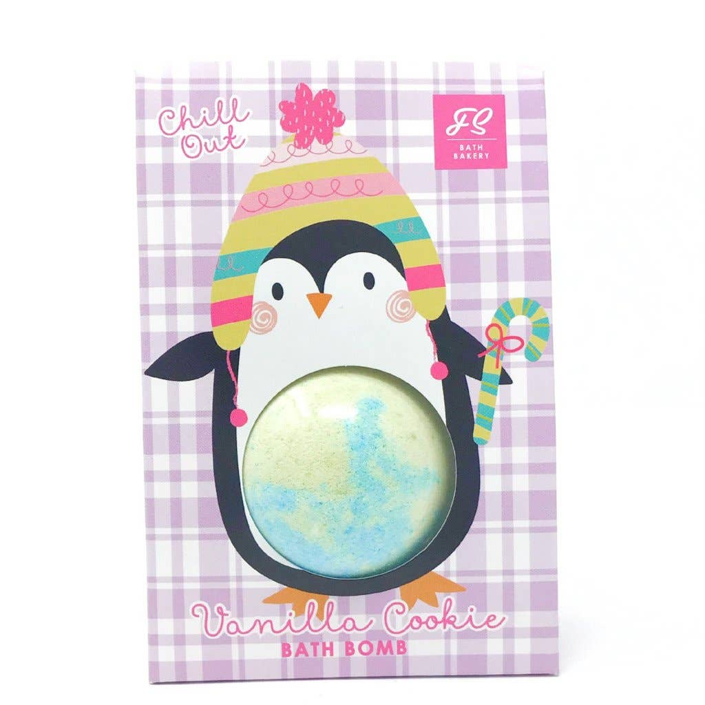 Feeling Smitten - Chill Out Vanilla Cookie Penguin Bath Bomb Bag