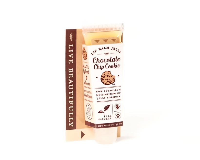Live Beautifully - Lip Balm Jelly - Chocolate Chip Cookie