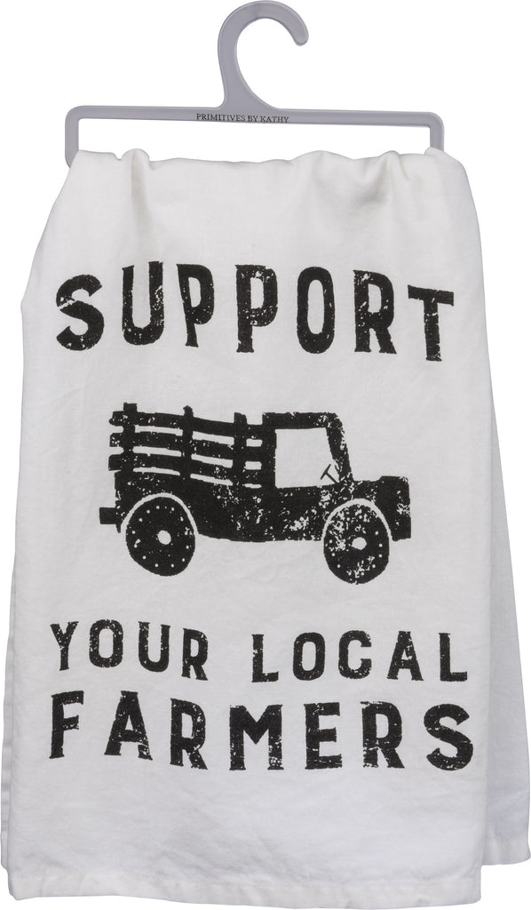 Support Your Local Famers Towel