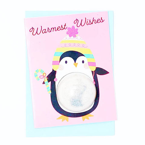 Feeling Smitten - Warmest Wishes Penguin Bath Card