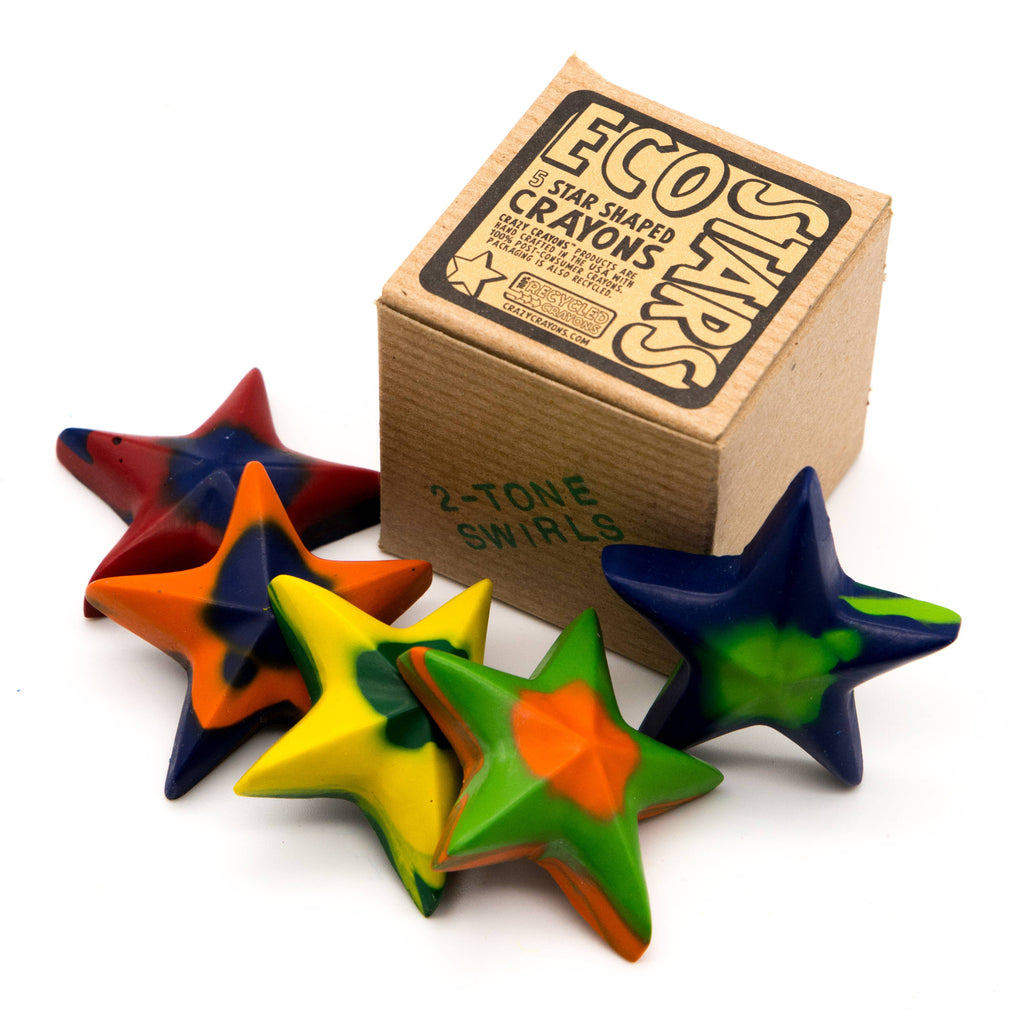 Crazy Crayons - Eco Stars Crayon - Box of 5