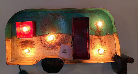 Light up camper sign