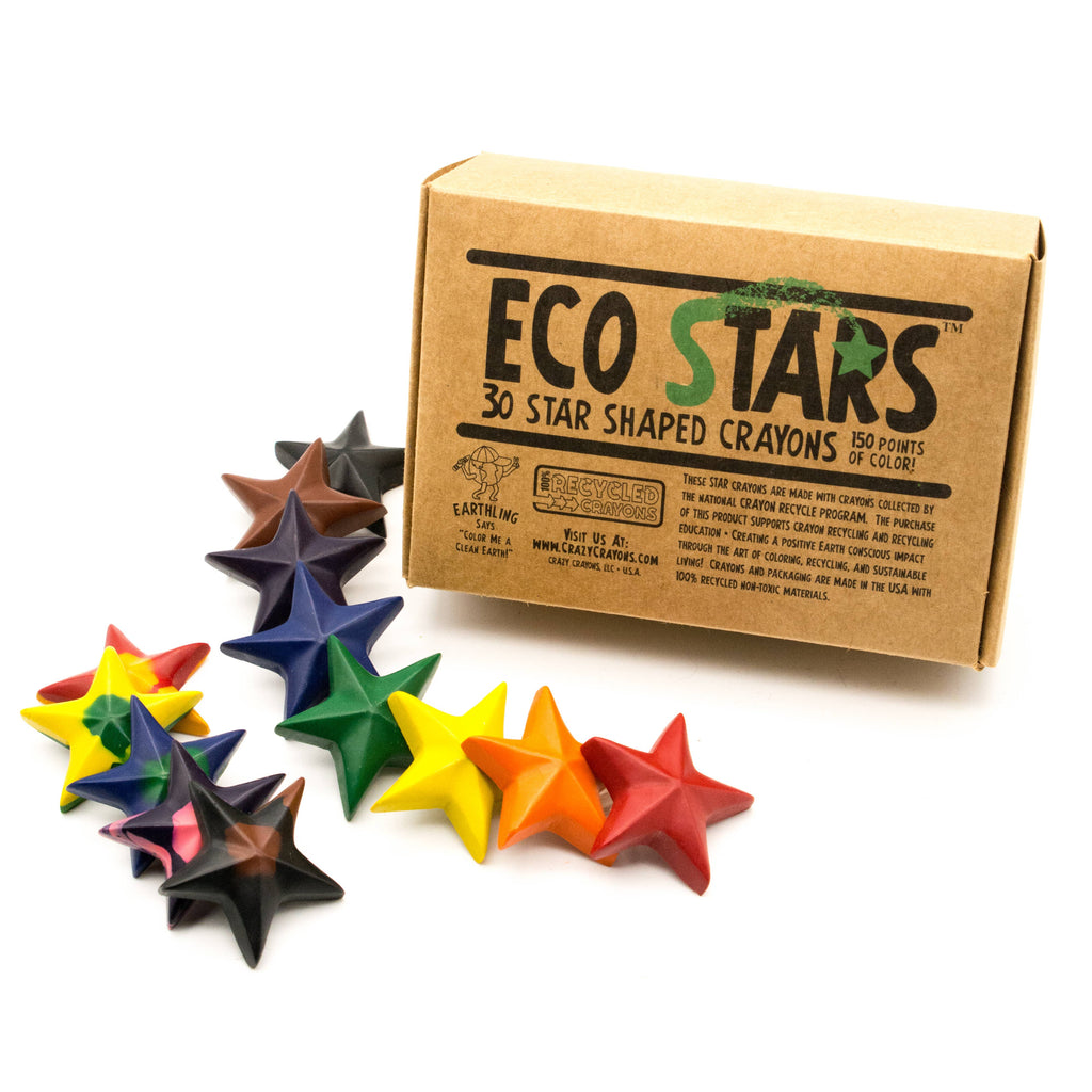 Crazy Crayons - Eco Stars Crayon - Box of 30