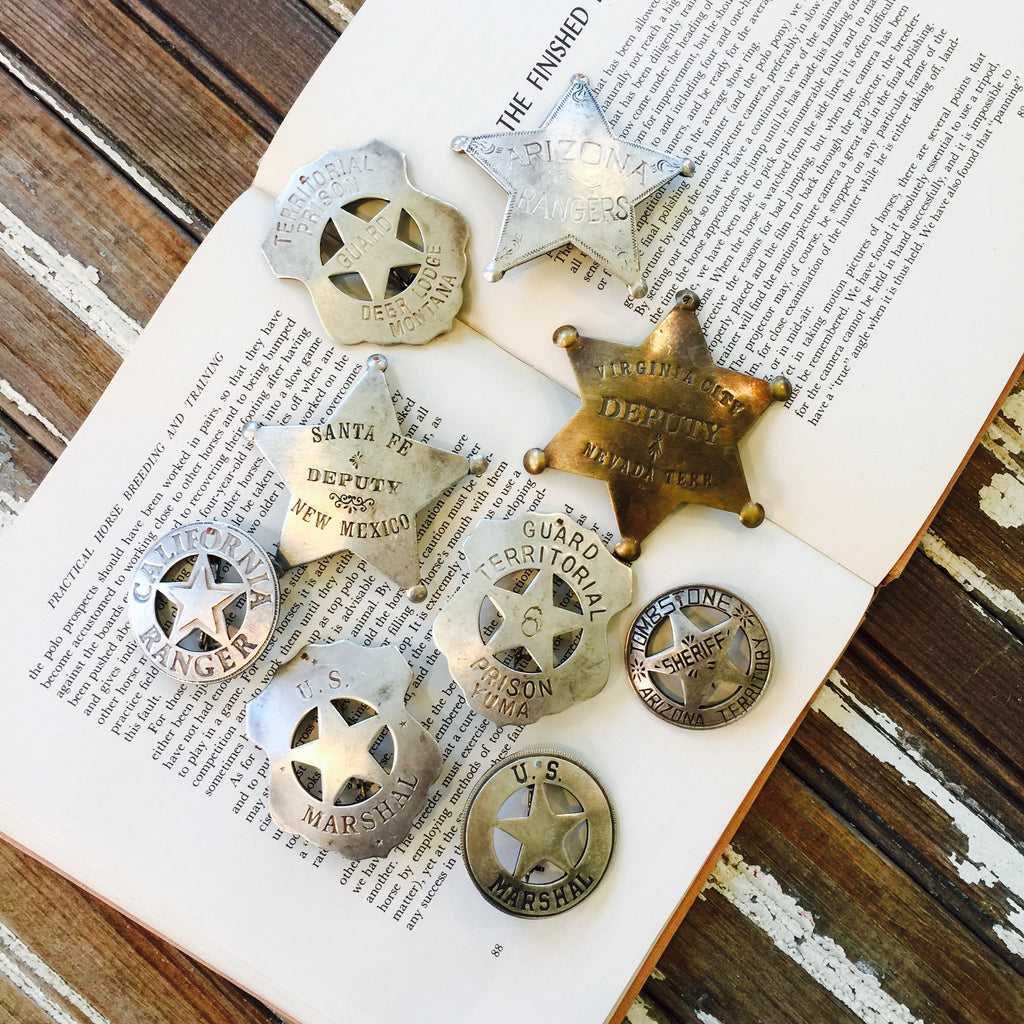 Assorted Vintage Sheriff Stars