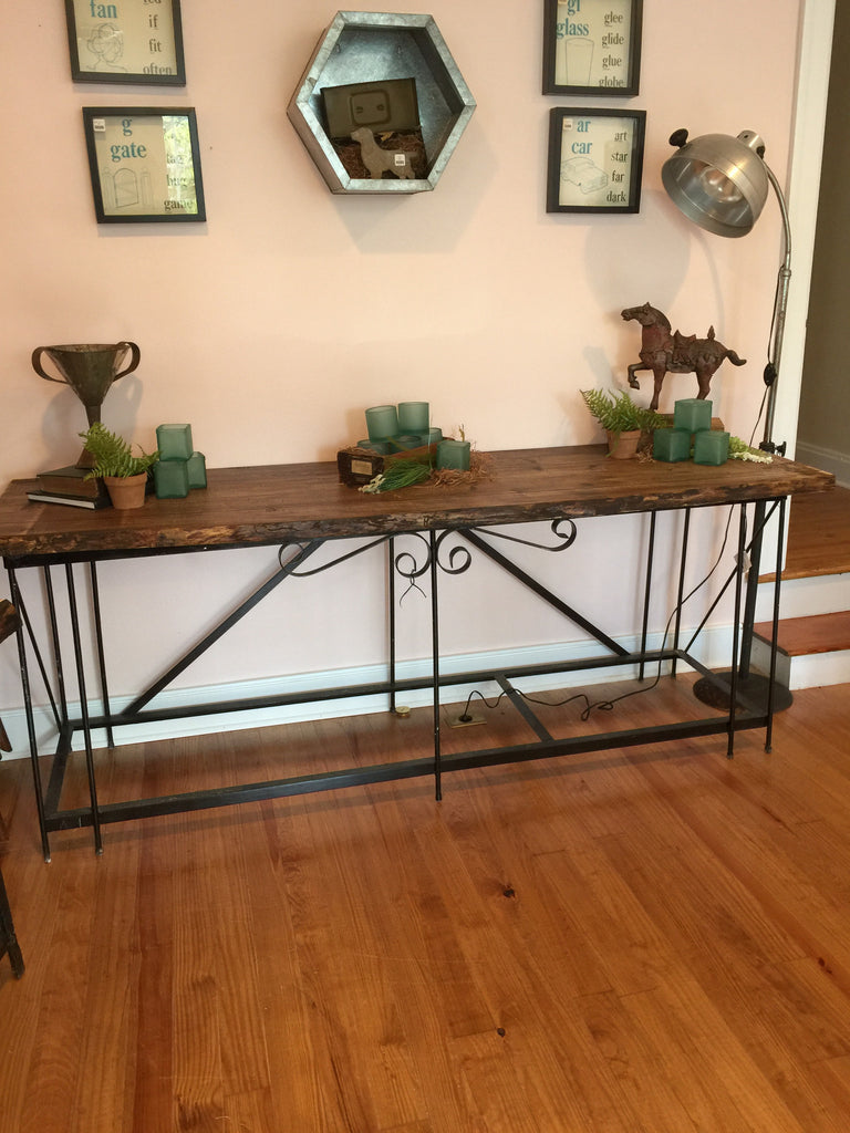 Aquarium Base /Live Edge Console