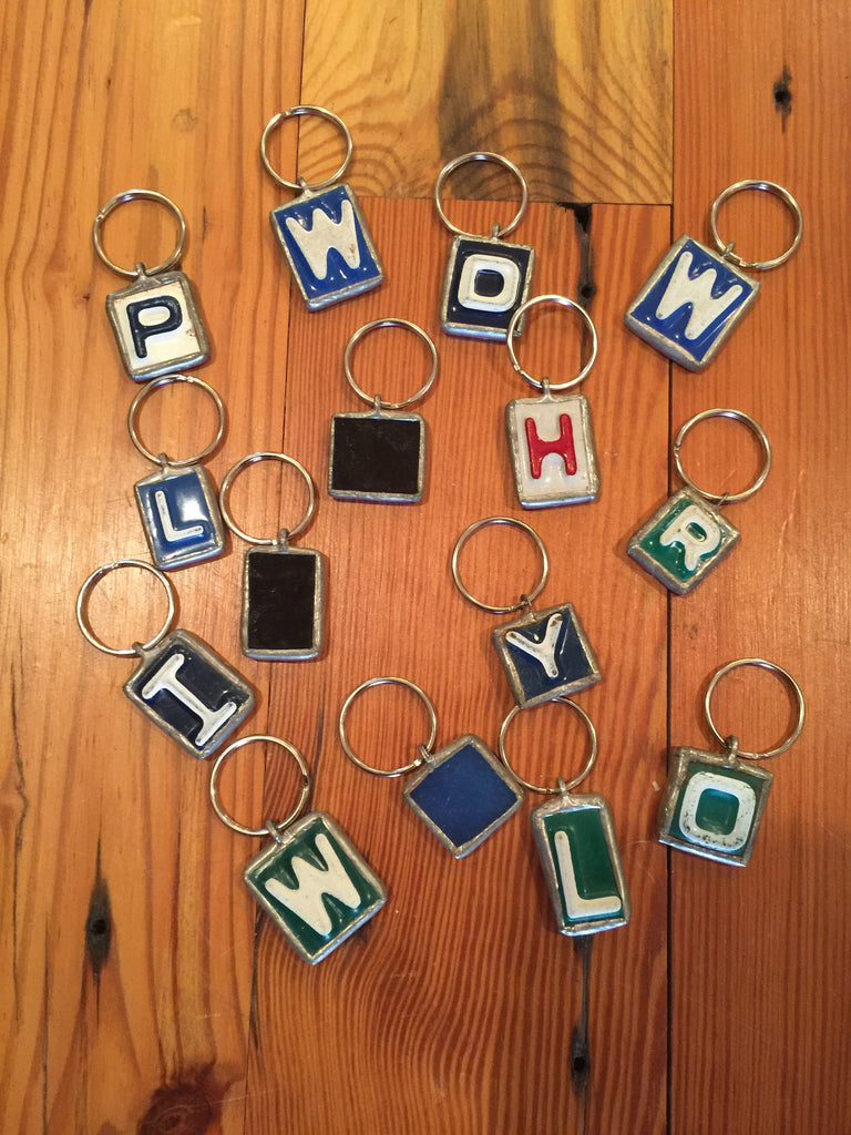 Soldered License Plate Key Ring