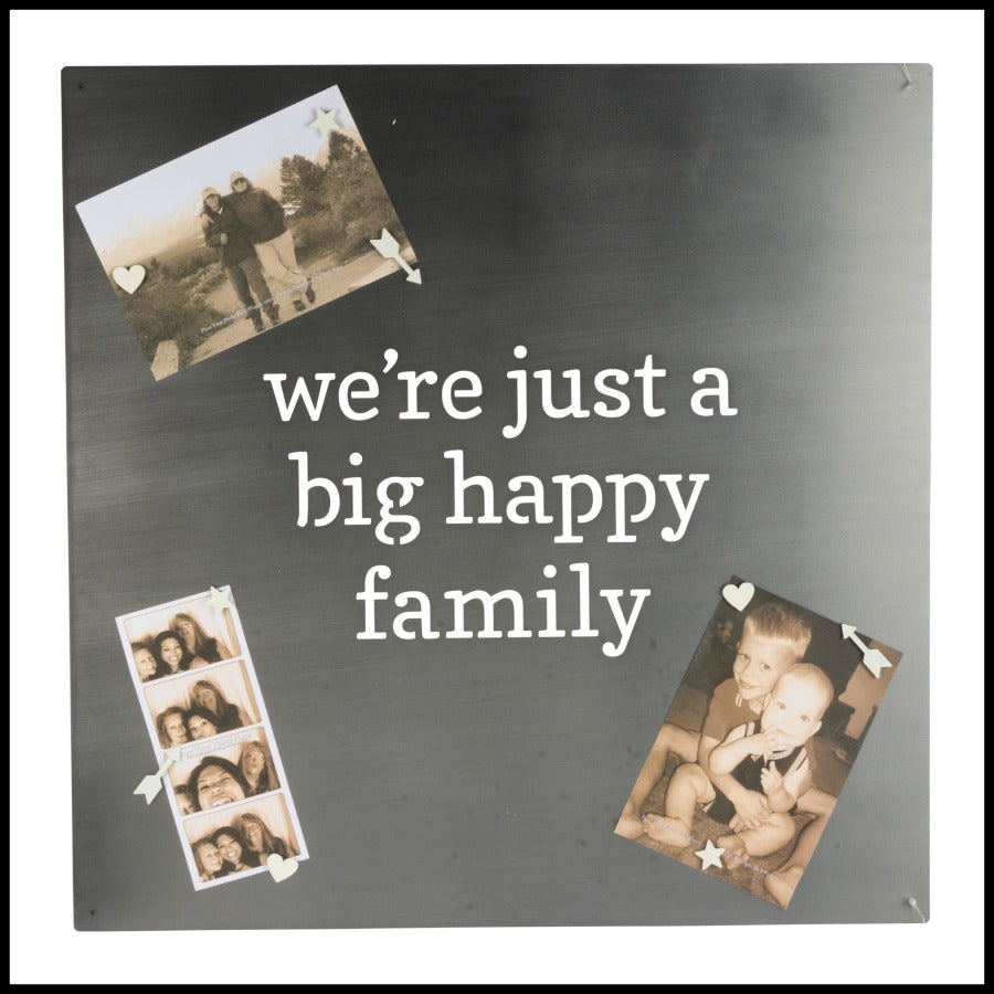 """big happy family"" Metal Magnet Board"