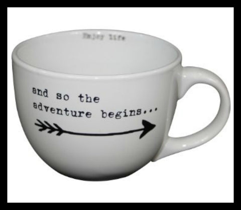 """And So the Adventure Begins . . . "" 24oz Mug"