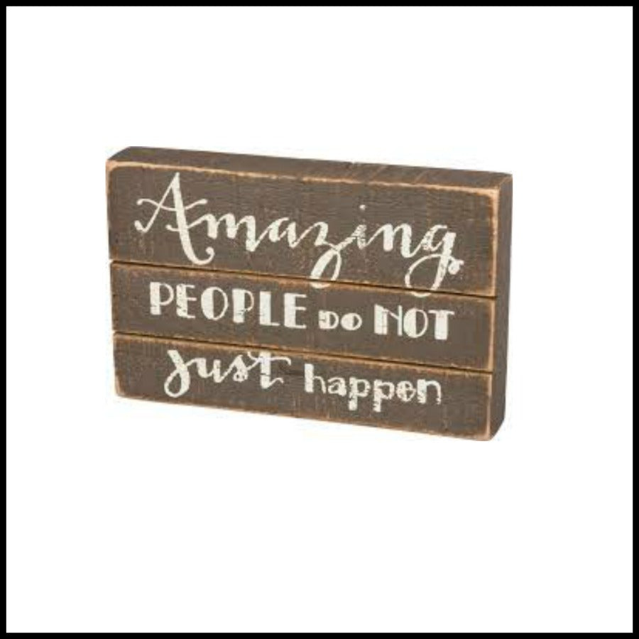 """Awesome People"" Slat Box Sign"