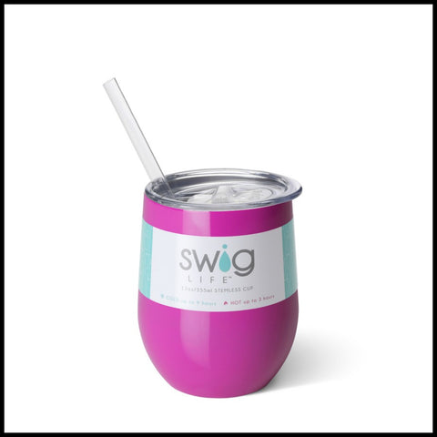 Berry SWIG 12oz. Stemless Cup