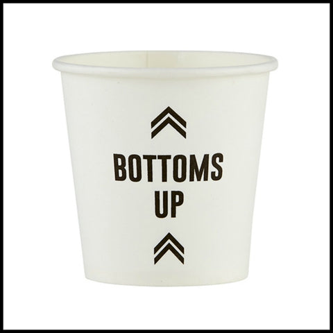 """Bottoms Up"" Disposable Shot Cup"
